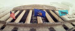 NYSE, New York Stock Exchange, Panorama, snow, snowing, winter, building, landmark, Manhattan, CNYV05P08_06.1735