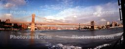 Brooklyn Bridge, Panorama, Winter, Ice, East River, cold, wintery, East-River, CNYV05P09_11