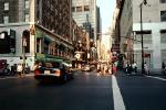 Buildings, cars, crosswalk, stores, Cityscape, Manhattan, CNYV06P15_15