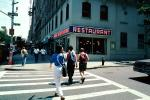 Crosswalk, Buildings, summer, Cityscape, Manhattan, CNYV07P01_08