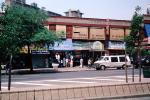 shops, stores, awning, van, street, summer, trees, Buildings, Cityscape, Manhattan, CNYV07P01_16
