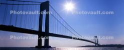 Verrazano Narrows Bridge, Interstate Highway I-278, Suspension Bridge, Panorama, CNYV07P08_17B
