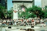 Crowds, summertime, summer, Washington Square, June 1989, CNYV08P01_11