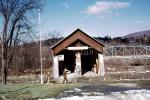 Covered Bridge, Schoharie Valley, footbridge, Blenheim, 1950's, CNZV01P03_13