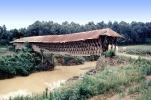 Covered Bridge, River, Stream, CNZV01P04_01