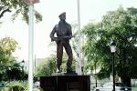 Little Havana, statue, landmark, soldier, rifle, COFV01P09_14