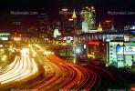 Cityscape, Skyline, Buildings, Nighttime, Downtown Atlanta, COGV01P06_17
