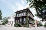Home, House, corner building, stairs, ivy, Historic Savannah