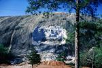 Stone Mountain, bar-Relief sculpture, Stonewall Jackson, Robert E. Lee, Jefferson Davis, Confederate States of America, Quartz Monzonite Dome