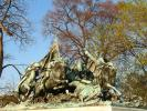 Cavalry charge, Grant Memorial, Statue, Sculpture, Horses, Patina, Civil War
