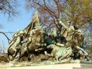 Cavalry charge, Grant Memorial, Statue, Sculpture, Horses, Wagon, Patina, Civil War