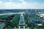 Lincoln Memorial, Reflecting Pool, Potomac River, Arlington, CONV02P08_06