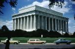 Lincoln Memorial, Cars, Ford, Chevy, Studebaker, 1950s