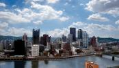 Monogahela River, skyline, downtown, buildings, skyscraper, Pittsburgh, COPV01P04_07
