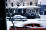 Cars, automobile, vehicles, Frozen, Icy, Winter, 1950's