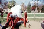 Cannon, Firing, Fire, smoke, Revolutionary War, American Revolution, Battlefield, Continental Army, History, Historical, War of Independence, artillery, gun, COVV02P01_17