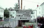Mrs Crockett's Chesapeake House, Family Style Meals, sign, signage, July 1974, 1970s