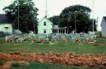 Graves on Tangiers Island, Cemetary, July 1974, 1970s
