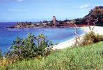Waimea Beach, Church Tower, landmark building, beach, sand, Waimea Bay, CPHV01P01_11