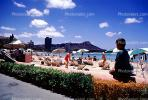 sand, clouds, woman, Waikiki Beach, Honolulu, Oahu, CPHV01P11_05