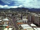 Honolulu Cityscape, skyline, mountains, highrise, warehouse, clouds, CPHV03P02_16