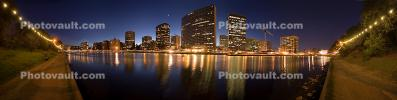 Necklace of Lights, Lake Merritt, Downtown Oakland, Panorama, CSBD01_198