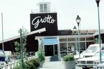 Grotto, restaurant, building, cars, 1980s