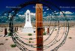 Circle of Barbed Wire Fence, Soul Consoling Tower, Monument, CSCV01P12_12.1740