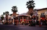 shops, stores, buildings, downtown, palm trees, Palm Springs