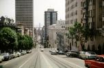 Cars, Buildings, California Street, steep, June 1966, 1960s, CSFV01P01_16