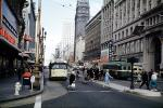 Trolley Bus, Woolworth, Market Street at 5th street, April 6, 1961, 1960s