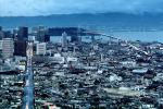 View from Twin Peaks, Market Street to Downtown, Downtown-SF, downtown,