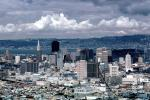 Cityscape, Skyline, Building, Skyscraper, Downtown, Metropolitan, Metro, Outdoors, Outside, Exterior, Cumulus Clouds, from twin peaks