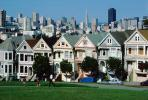 Alamo Square, Row of Painted Ladies, Transamerica Pyramid, Cityscape, CSFV03P06_11