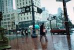 Rainy downtown, Market Street, Downtown-SF, umbrellas, downtown
