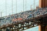 Crowded, People, 50th anniversary celebration, Golden Gate Bridge, May 24th, 1987, 1980s, detail, CSFV07P08_05