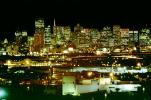 night, Cityscape, skyline, buildings, skyscrapers, Downtown, view from Potrero Hill