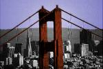 Golden Gate Bridge, Transamerica Pyramid, CSFV12P02_11