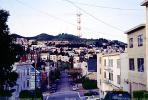 Sutro Tower, homes, buildings, hill, CSFV13P06_17