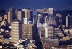 Market Street, Cityscape, Highrise, Skysraper, buildings, downtown, from Twin Peaks