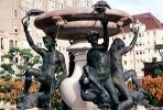 Water Fountain, aquatics, sculpture, statue, Mark Hopkins Hotel, fish, Nob Hill, CSFV15P12_01