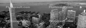 downtown, Transamerica Pyramid, Panorama, Downtown-SF