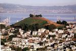 Bernal Heights Tower, mountain, hill, mound, cranes, buildings, from Twin Peaks, CSFV18P13_15