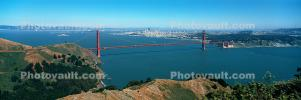 Marin Headlands, Golden Gate Bridge, Panorama