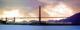 Golden Gate Bridge, Panorama, Sunset, CSFV20P12_10B