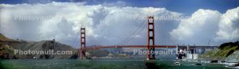 Clouds surround the Golden Gate Bridge, Panorama, CSFV23P06_19B