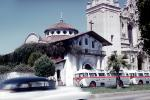 Gray Line Buses, Mission San Francisco de Assisi, Mission Dolores, June 1960, 1960s
