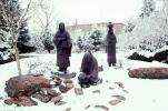 Native American Statues in the Snow
