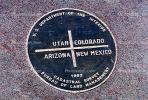 Medallion, Four Corners Monument, Round, Circular, Circle