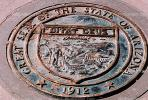 Great Seal of the State of Arizona, Medallion, Four Corners Monument, Round, Circular, Circle